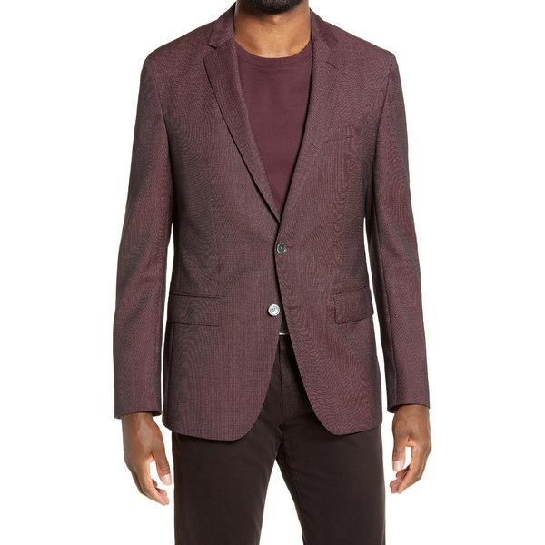 ボス メンズ ジャケット&ブルゾン アウター Hartlay Slim Fit Solid Wool Sport Coat Rust