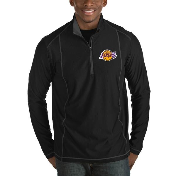 アンティグア メンズ ジャケット&ブルゾン アウター Los Angeles Lakers Antigua Tempo Big & Tall HalfZip Pullover Jacket Black