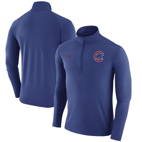 ナイキ メンズ ジャケット&ブルゾン アウター Chicago Cubs Nike Element HalfZip Performance Top Royal