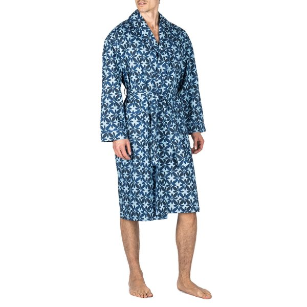 マジェスティック メンズ コート アウター Majestic International Shanti Chambray Cotton Robe Chambray
