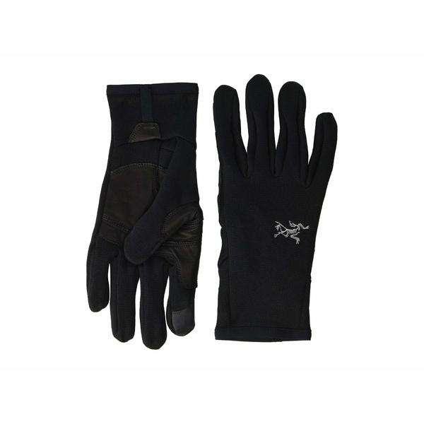 値下げ アークテリクス メンズ アクセサリー 気質アップ 手袋 全商品無料サイズ交換 Black Gloves Rivet