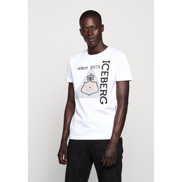 アイスバーグ メンズ 流行 トップス 祝開店大放出セール開催中 Tシャツ bianco gyje002c 全商品無料サイズ交換 T-shirt - Print
