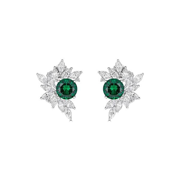 【完売】  トーマス レイン レディース ピアス&イヤリング アクセサリー Silver Thomas Laine レイン Laine Liz Garland Cluster Earrings Emerald/ Silver:asty, ALTAR/アルタ現代仏壇、仏具:76e19ea1 --- daftarfoodizz.id