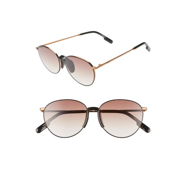 ケンゾー レディース サングラス&アイウェア アクセサリー KENZO 55mm Round Sunglasses Dark Bronze/Blk/Gradient Brn