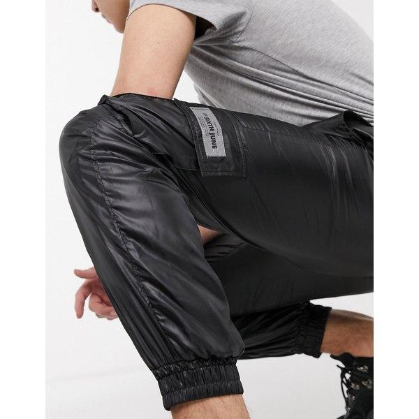 シックスジュン メンズ カジュアルパンツ ボトムス Sixth June zip detail sweatpants in black Black