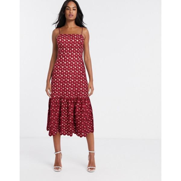 テルーラ レディース ワンピース トップス Talulah Lady of Luxury crochet midi dress Small daisy pink1lFcKJ