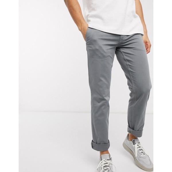 ボス メンズ カジュアルパンツ ボトムス BOSS Schino slim fit pants in gray Khaki