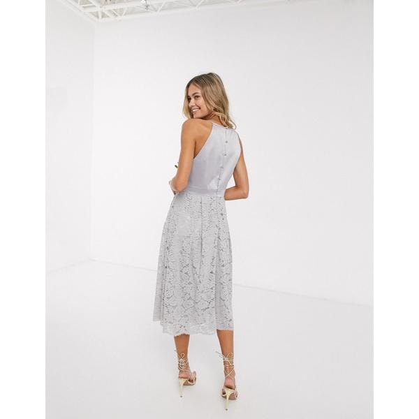 オアシス レディース トップス ワンピース Gray 全商品無料サイズ交換 NEW ARRIVAL Oasis skater in dress 休日 bridesmaid gray lace