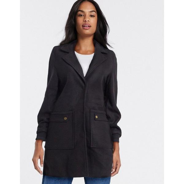 ヴェロモーダ レディース アウター マーケット コート Black 全商品無料サイズ交換 Vero in detail coat Moda pocket black 最新アイテム
