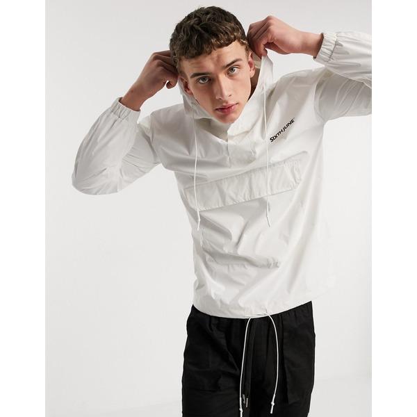 シックスジュン メンズ ジャケット&ブルゾン アウター Sixth June reflective overhead jacket with logo in white White