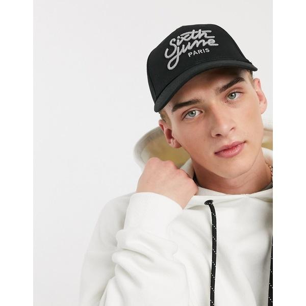シックスジュン メンズ 帽子 アクセサリー Sixth June logo print reflective cap in black Black