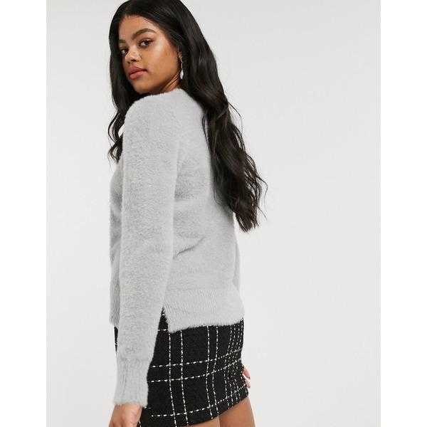 オアシス レディース ニット セーター アウター Oasis eyelash sweater in silver Silver5jR4AL