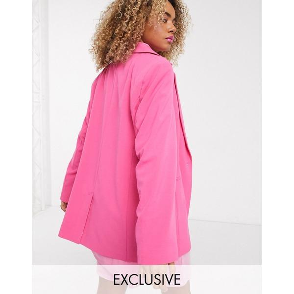コリュージョン レディース ジャケット&ブルゾン アウター COLLUSION oversized dad blazer in pink Pink
