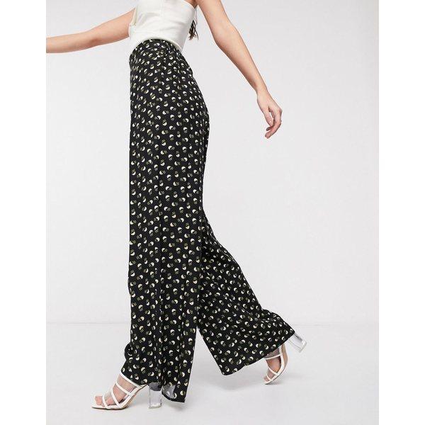 エイソス レディース カジュアルパンツ ボトムス ASOS DESIGN wide leg pants in ditsy floral Floral