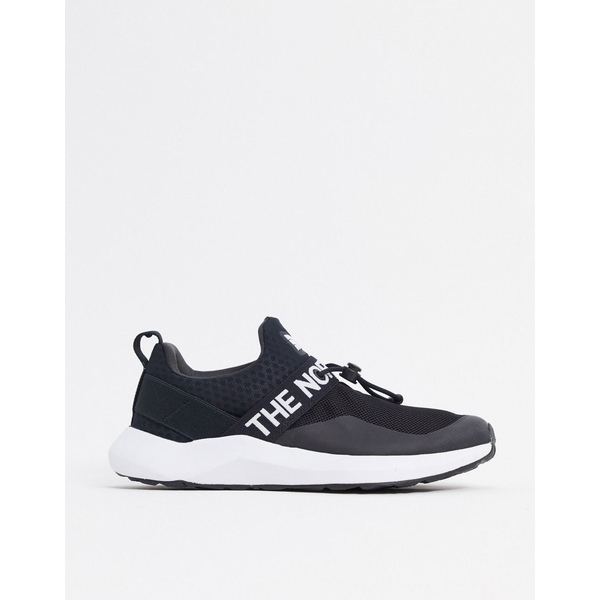 ノースフェイス レディース スニーカー シューズ The North Face Surge Pelham sneaker in black Tnf black tnf black