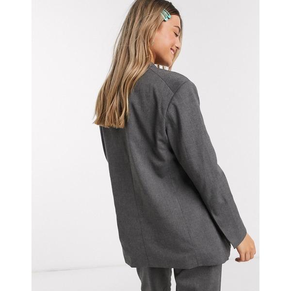 モンキ レディース ジャケット&ブルゾン アウター Monki Grace oversized dad blazer in gray Gray