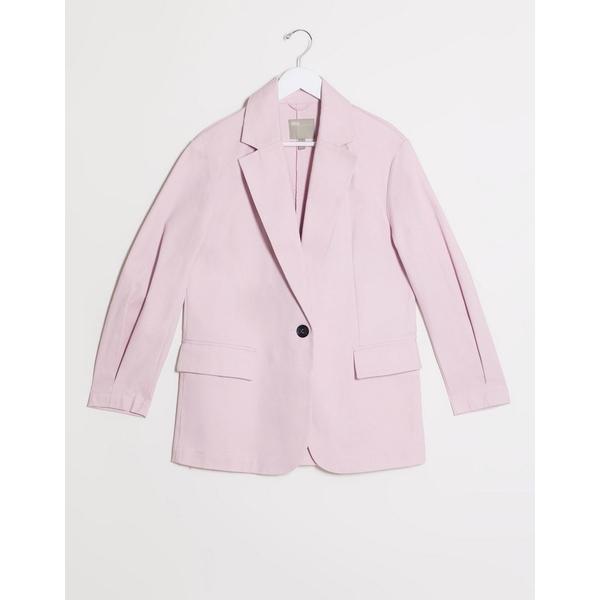エイソス レディース コート アウター ASOS DESIGN hero XL grandad coat in pastel pink Pastel pink