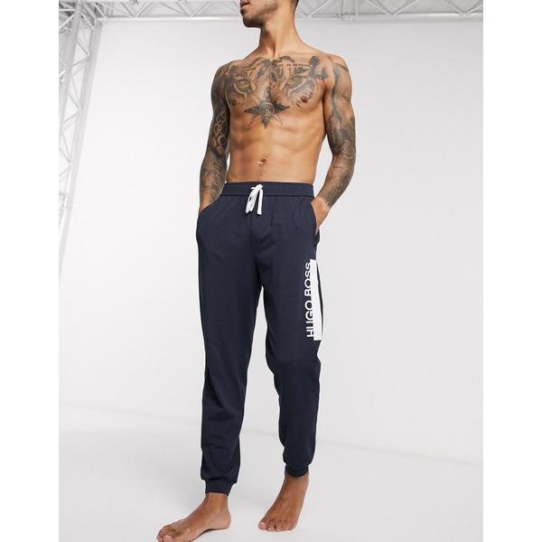 ボス メンズ カジュアルパンツ ボトムス BOSS bodywear Identity logo cuffed sweatpants in navy SUIT 1 two-piece Navy