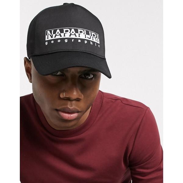 ナパピリ メンズ 帽子 アクセサリー Napapijri Framing cap in black Black