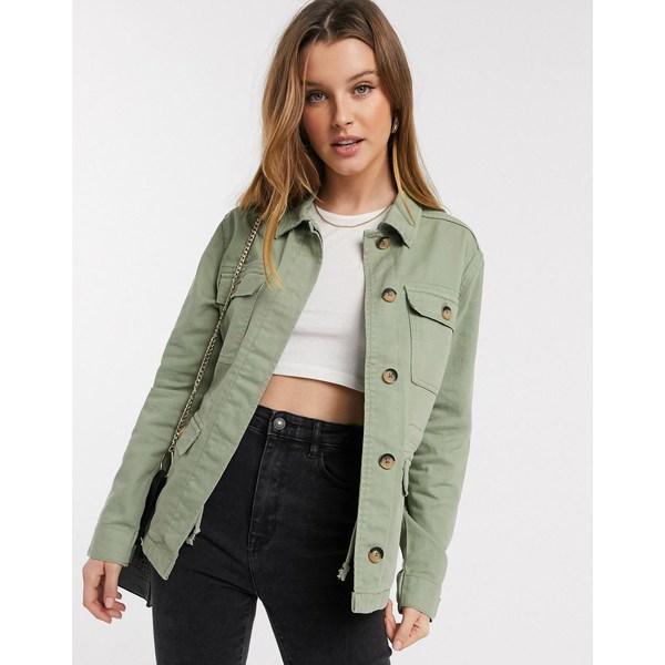 ビーヤング レディース ジャケット&ブルゾン アウター b. Young utility jacket Khaki