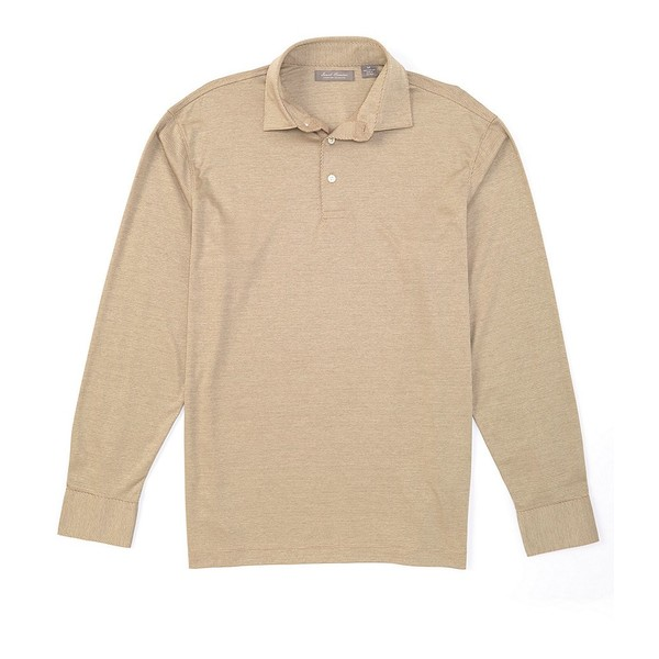 クレミュ メンズ ポロシャツ トップス Daniel Cremieux Signature Solid Jacquard Long-Sleeve Polo Shirt String