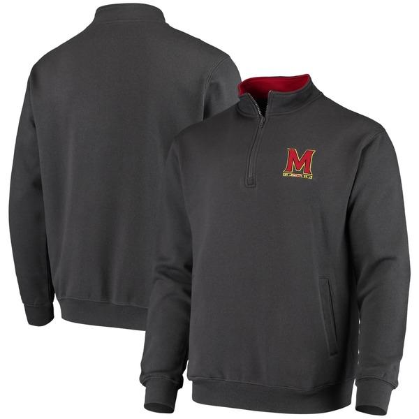 コロシアム メンズ ジャケット&ブルゾン アウター Maryland Terrapins Colosseum Tortugas Logo QuarterZip Jacket White