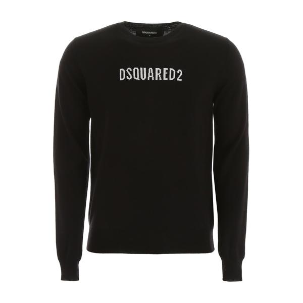 ディースクエアード メンズ ニット&セーター アウター Dsquared2 Logo Pullover BLACKWHITEBlack