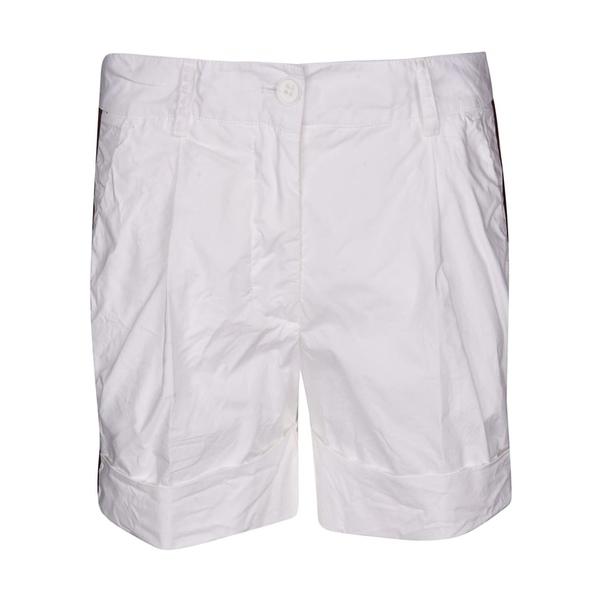 パロシュ レディース カジュアルパンツ ボトムス Parosh Side Striped Shorts White