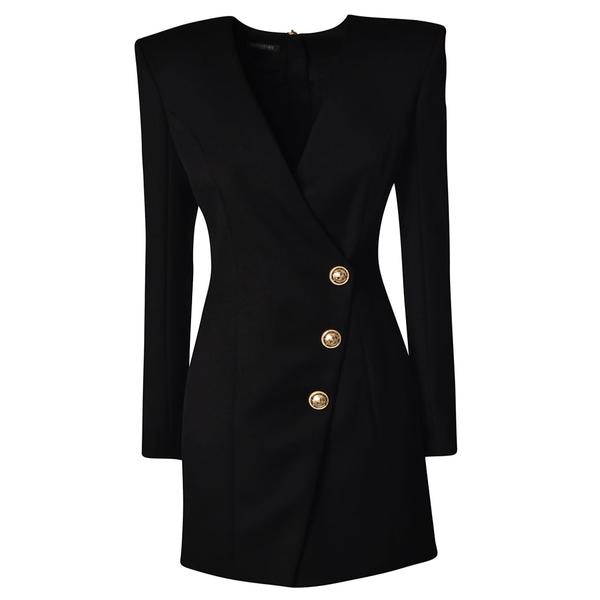 バルマン レディース ジャケット&ブルゾン アウター Balmain Button Embellished Blazer -