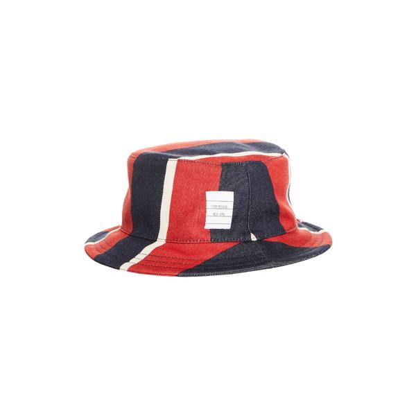 トムブラウン メンズ 帽子 アクセサリー Stripe Wool & Cotton Bucket Hat Red/White/Blue