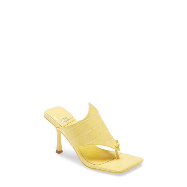 ジェフリー キャンベル レディース サンダル シューズ Amores Sandal Yellow Croco