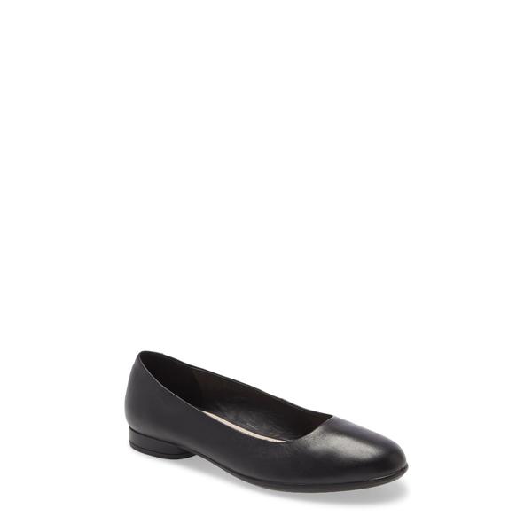 エコー レディース サンダル シューズ Anine Ballerina Flat Black/ Black Leather