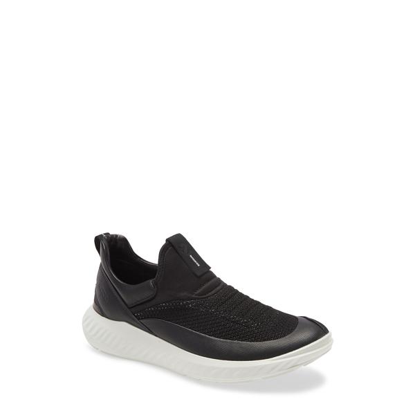 エコー メンズ スニーカー シューズ ST.1 Light Slip-On Sneaker Black
