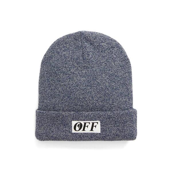 オフホワイト メンズ 帽子 アクセサリー Equipment Wool Beanie Blue