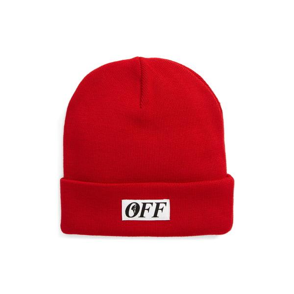 オフホワイト メンズ 帽子 アクセサリー Equipment Wool Beanie Red