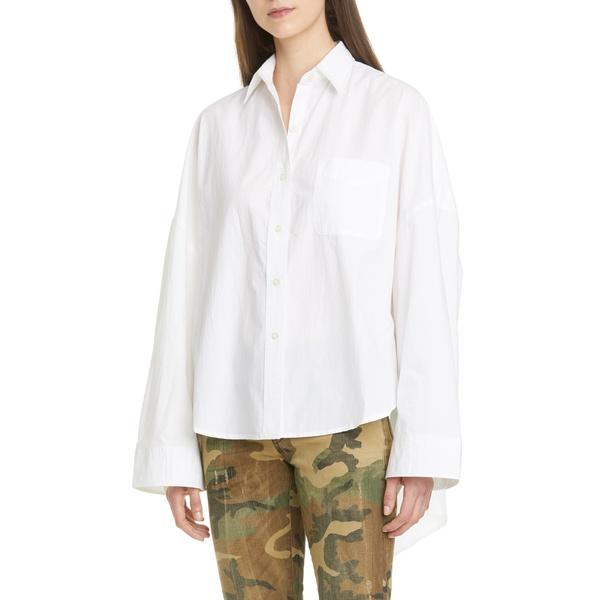 アールサーティーン レディース シャツ トップス Oversized Poplin Shirt White