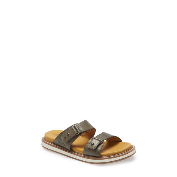 キーン レディース サンダル シューズ Lana Slide Sandal Dusty Olive/ Silver Leather