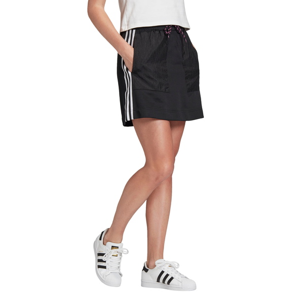 アディダスオリジナルス レディース スカート ボトムス 3-Stripes French Terry Skirt Black
