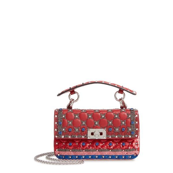 ヴァレンティノ ガラヴァーニ レディース ショルダーバッグ バッグ Small Spike It Leather Shoulder Bag Rosa