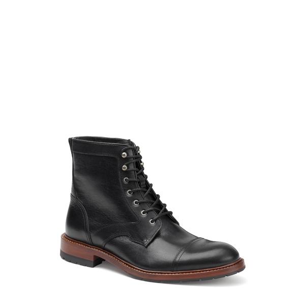 トラスク メンズ ブーツ&レインブーツ シューズ Lawrence Cap Toe Boot Black