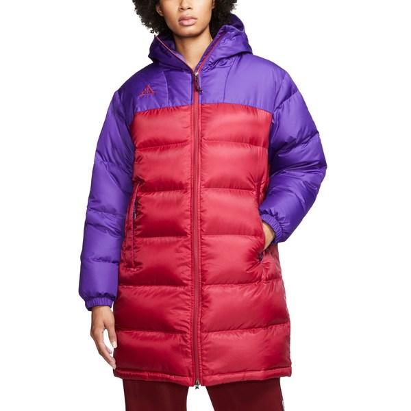 ナイキ レディース ジャケット&ブルゾン アウター ACG Hooded Down Parka Court Purple/ Noble Red