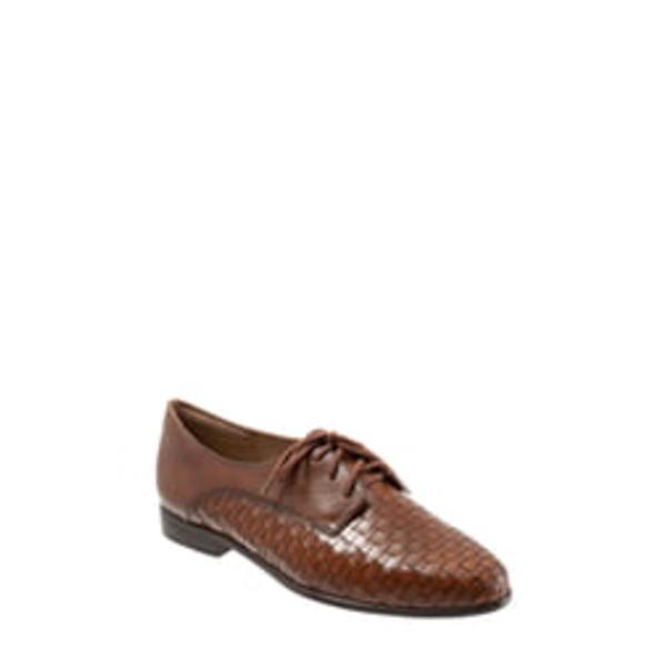 トロッターズ レディース サンダル シューズ Lizzie Derby Flat Cognac Leather
