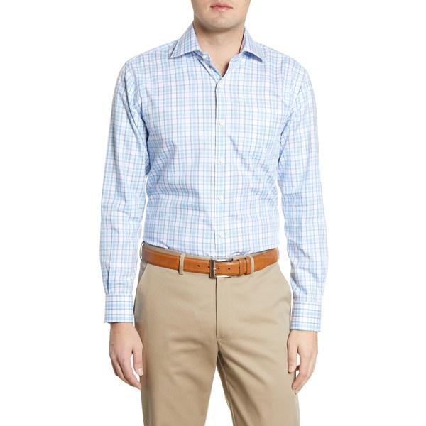 ピーター・ミラー メンズ シャツ トップス Sanford Grand Classic Fit Plaid Button-Up Shirt Lake Blue