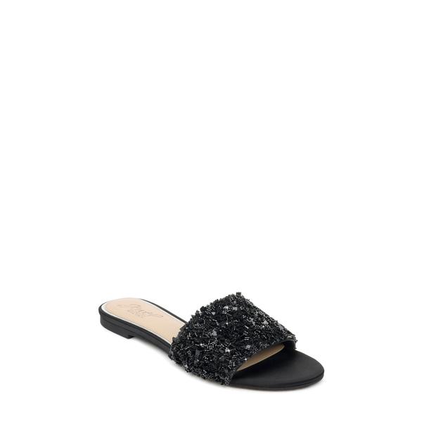 ジュウェルダグレイミシュカ レディース サンダル シューズ Noland Embellished Slide Sandal Black/ Black