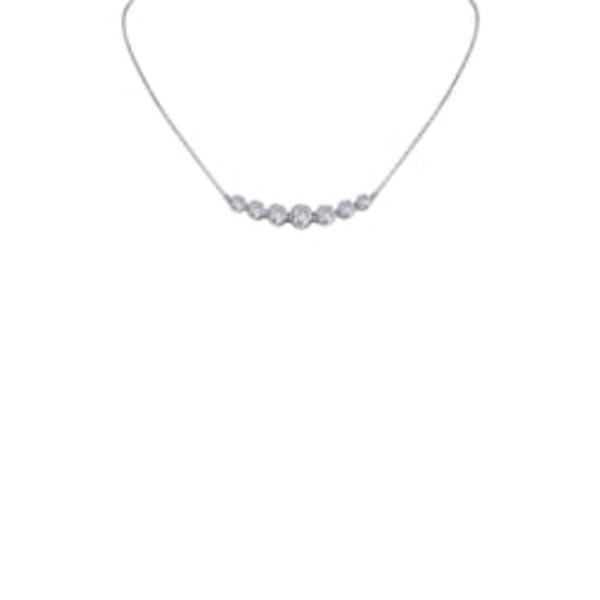 ラフォン レディース ネックレス・チョーカー・ペンダントトップ アクセサリー Seven Symbols of Joy Simulated Diamond Necklace Silver/ Clear