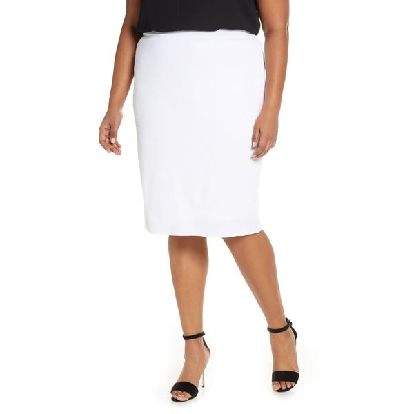 ミンウォン レディース スカート ボトムス Knit Pencil Skirt White