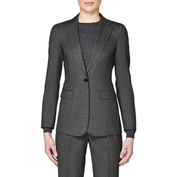 スイスタジオ レディース ジャケット&ブルゾン アウター Cameron Wool Suit Jacket Grey