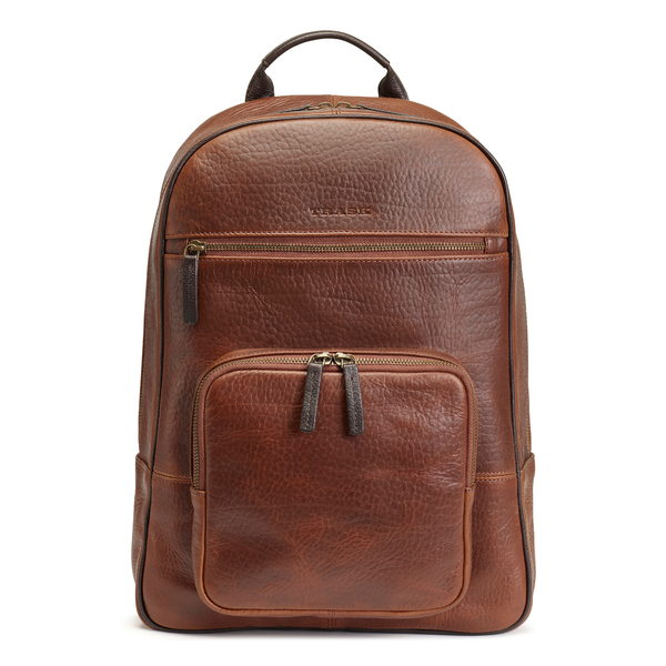トラスク メンズ バックパック・リュックサック バッグ Jackson Leather Backpack Saddle Tan American Bison