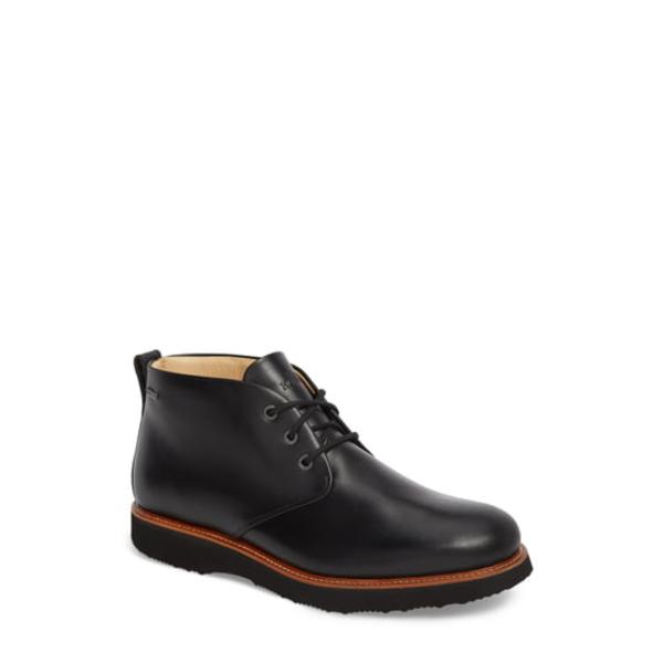 サミュエルフドバード メンズ ブーツ&レインブーツ シューズ Re-Boot Waterproof Gore-Tex ョ Chukka Boot Black Leather