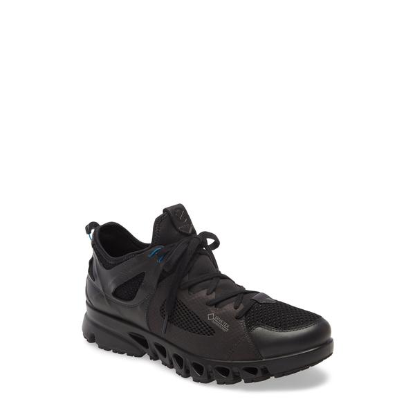 エコー メンズ スニーカー シューズ Omni Vent Air Gore-Tex ョ Waterproof Sneaker Black/ Black/ Olympian Blue